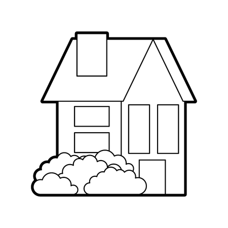 house residence property real estate architecture vector illustration Banco de Imagens - 86318696