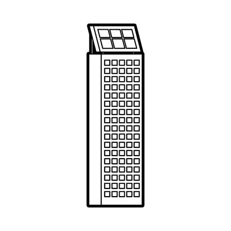Green energy house urbaine nature de l & # 39 ; environnement ou bâtiment de l & # 39 ; entreprise avec le panneau solaire illustration vectorielle Banque d'images - 86318697