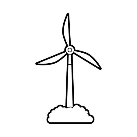 alternative sources of energy renewable windmills vector illustration