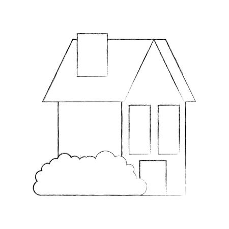 house residence property real estate architecture vector illustration Banco de Imagens - 86318721