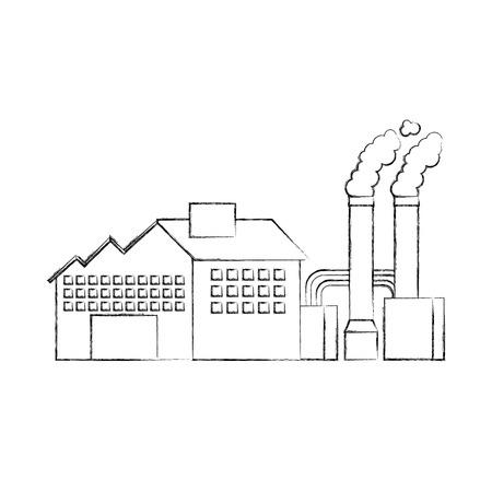 Industrie-Manufakturgebäude Herstellung von Öl und Gas Energie und Energie-Vektor-illustration Standard-Bild - 86318724