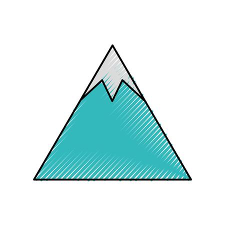 山のピーク自然の土地環境ベクトルイラスト  イラスト・ベクター素材