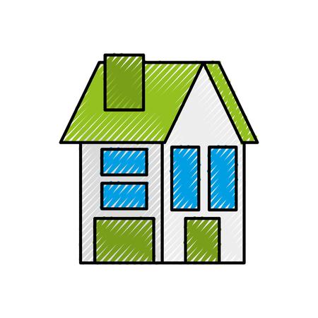 house residence property real estate architecture vector illustration Banco de Imagens - 86318738