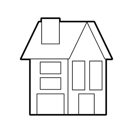 住宅用不動産建築ベクトルイラスト
