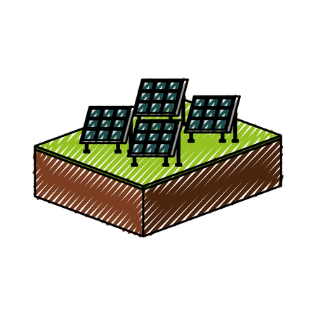 ソーラーパネル現代技術代替エネルギー源ベクトルイラスト