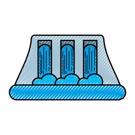 Ilustración de vector de concepto de energía hidroeléctrica de energía hidroeléctrica Foto de archivo - 86318761