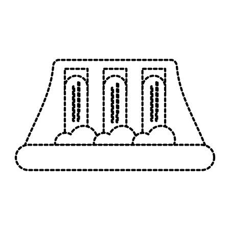 水力発電所の代替エネルギー概念ベクトル図  イラスト・ベクター素材