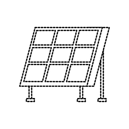 solar panel modern technologies alternative energy sources vector illustration