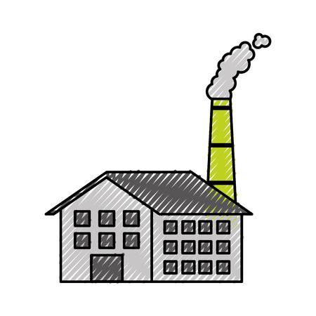 Industrie-Manufakturgebäude Herstellung von Öl und Gas Energie und Energie-Vektor-illustration Standard-Bild - 86318775