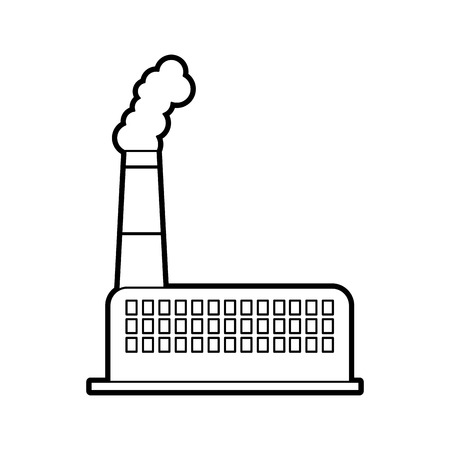 Usine usine usine de production et de l & # 39 ; industrie de la production et de la fumée illustration vectorielle Banque d'images - 86318780