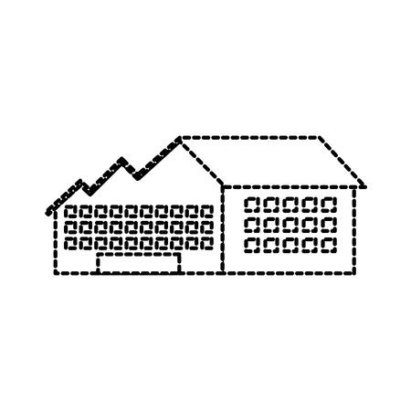 石油・ガスエネルギーベクトルイラストを生産する産業製造工場ビル  イラスト・ベクター素材
