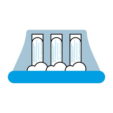 水力発電発電所代替エネルギーコンセプトベクトルイラスト  イラスト・ベクター素材