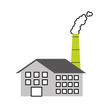 Industrie-Manufakturgebäude Herstellung von Öl und Gas Energie und Energie-Vektor-illustration Standard-Bild - 86318793
