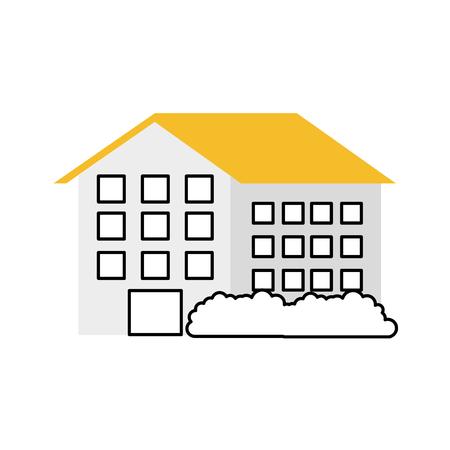 Haus Residenz Immobilien Immobilien Architektur Vektor-Illustration Standard-Bild - 86318794