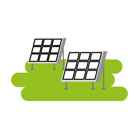 ソーラーパネル現代技術代替エネルギー源ベクトルイラストレーション 写真素材 - 86318796