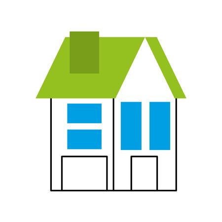 Haus Residenz Immobilien Immobilien Architektur Vektor-Illustration Standard-Bild - 86318830