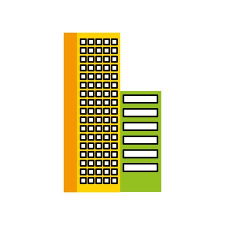 Gebäude Business Office oder Wohnung Wohn städtischen Struktur Vektor-Illustration Standard-Bild - 86318832