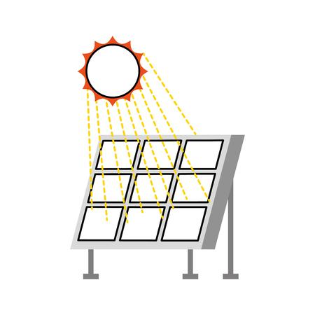 ソーラーパネル現代技術代替エネルギー源ベクトルイラストレーション 写真素材 - 86318846