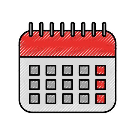 office calendar date planner organization vector illustration