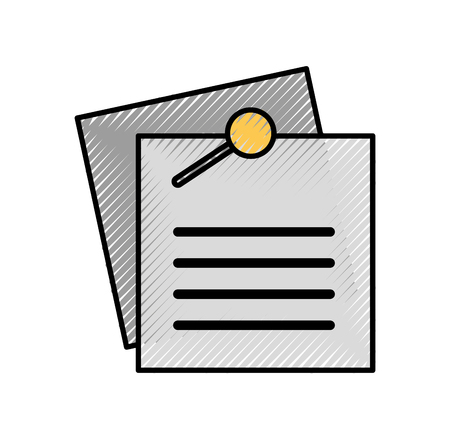 Nota foglio di carta per illustrazione vettoriale promemoria e memo Archivio Fotografico - 86318852