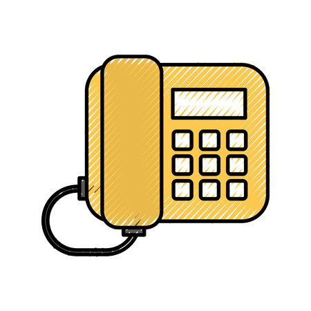 office telephone call support communication service vector illustration Иллюстрация