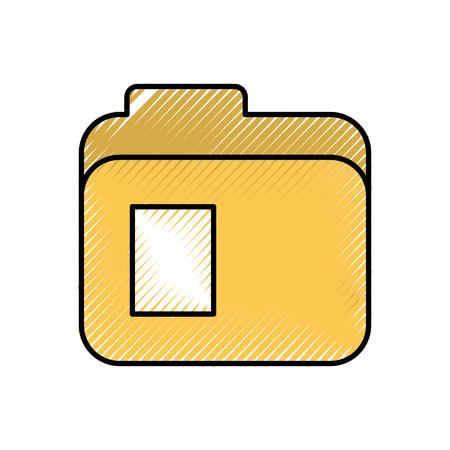 map bestand document levering kantoor vector illustratie