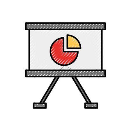 オフィスボードプレゼンテーションチャート財務報告書ベクトルイラスト