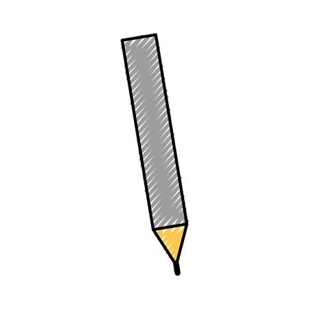 オフィス鉛筆書き込み木製文房具ツールベクトルイラスト  イラスト・ベクター素材