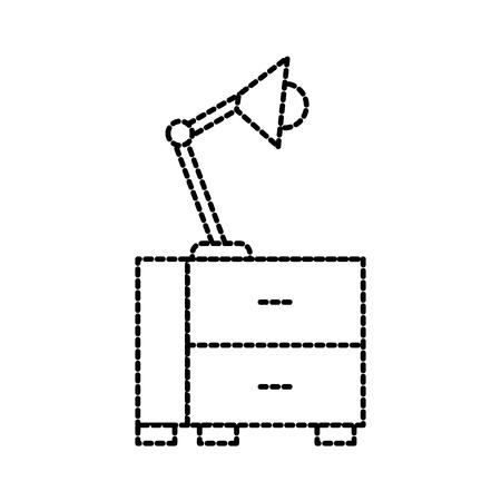 office table lamp bulb light furniture icon vector illustration