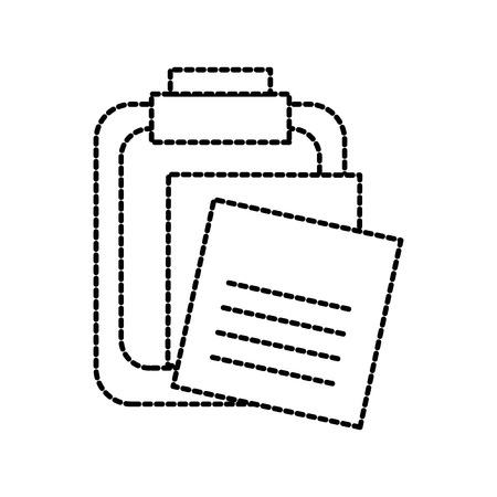 メモ紙メモピンでクリップボードベクトルイラスト