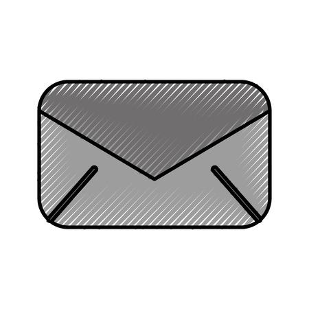 email envelope message communication close vector illustration Stock Vector - 86318884