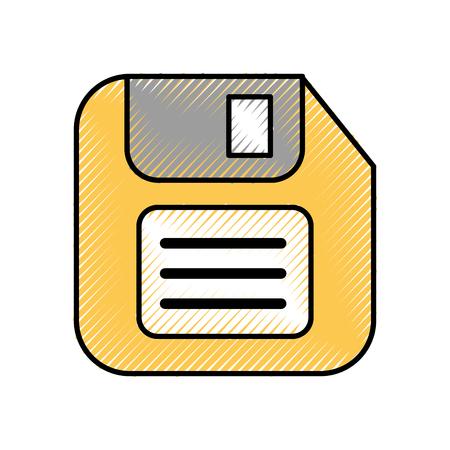 ディスケットのバックアップ・テクノロジー・データ・シンボル・ベクトル図の保存  イラスト・ベクター素材
