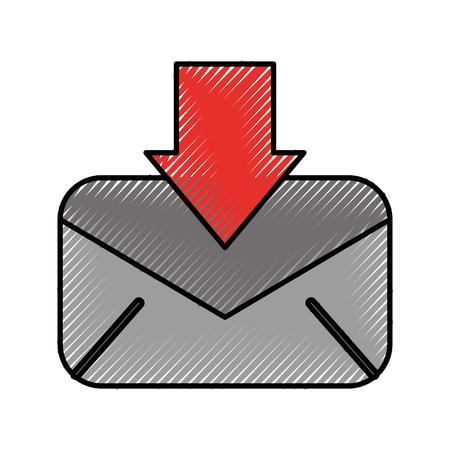ダウンロードメッセージ電子メール情報レターベクトルイラスト