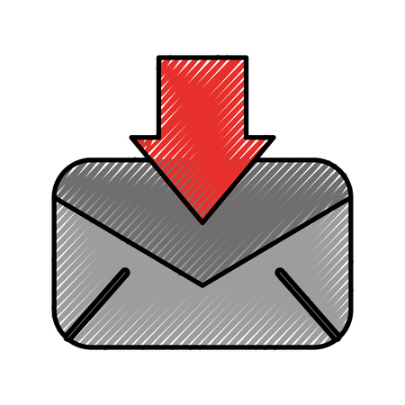 download bericht e-mail informatie brief vectorillustratie