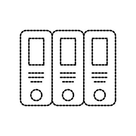 office binder organization archive supply vector illustration