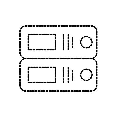 オフィスバインダー組織アーカイブ供給ベクトルイラストレーション  イラスト・ベクター素材