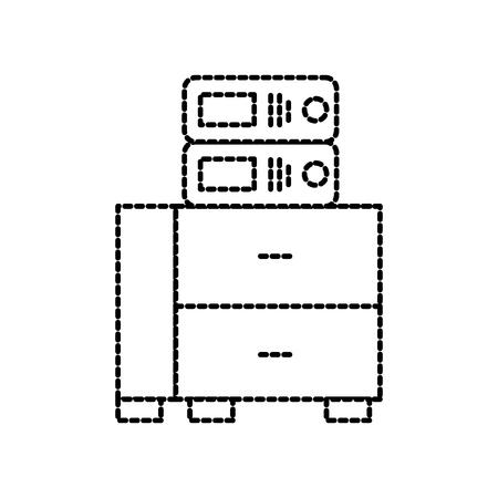 Büro Schrank mit Binder Organisation Archiv Vektor-Illustration Standard-Bild - 86318898