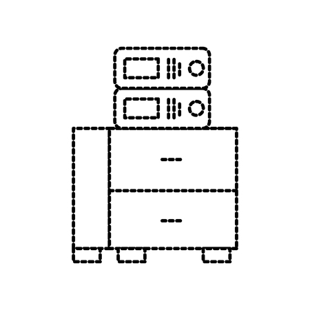 kantoor kast met bindmiddel organisatie archief vectorillustratie