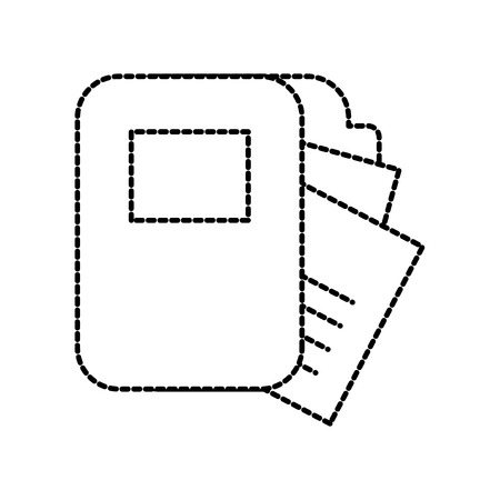 office folder file paper document work vector illustration