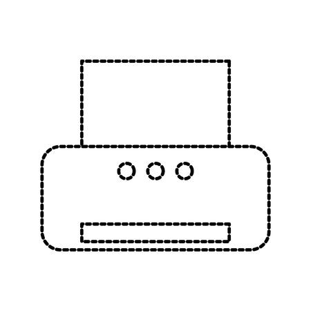office printer electric technology scanner vector illustration