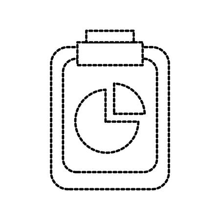 office business clipboard diagram chart financial vector illustration Illustration