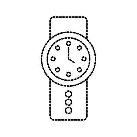 wrist watch time business elegance icon vector illustration