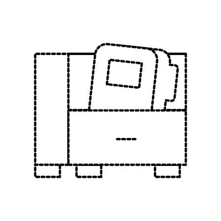 office cabinet and folder file document storage vector illustration Illustration