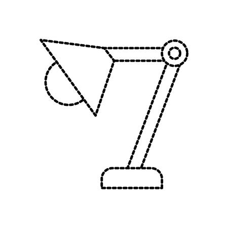 desk lamp office eqipment bulb light vector illustration Çizim