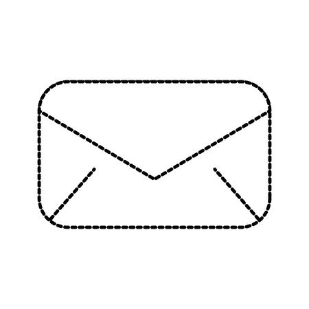 e-mailenvelop bericht communicatie dichtbij vectorillustratie Stock Illustratie