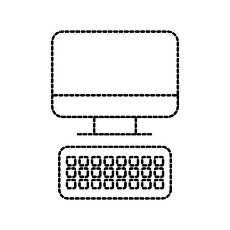 컴퓨터 키보드 기술 장치 사무실 작업 벡터 일러스트 레이션 일러스트