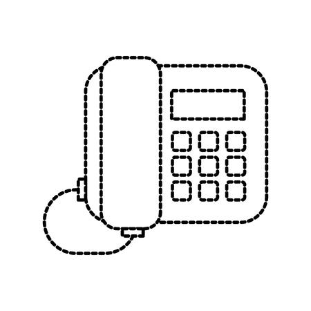 オフィス電話サポートコミュニケーションサービスベクトルイラスト
