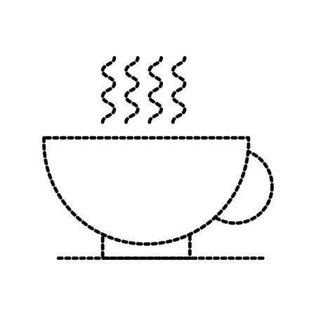 사무실 브레이크 컵 커피 음료 뜨거운 개념 벡터 일러스트 레이션 일러스트