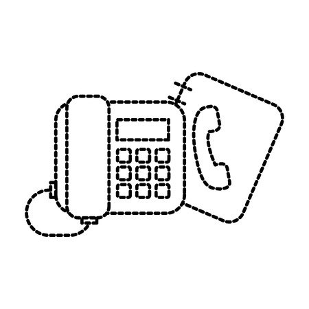 office telephone and address book contacs vector illustration