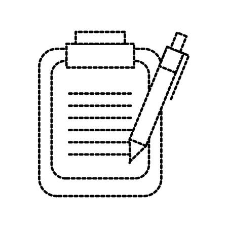 clipboard and pen checklist report information vector illustration